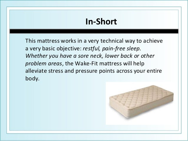 What Type Of Mattress Is Best For Back Pain Wake Fit