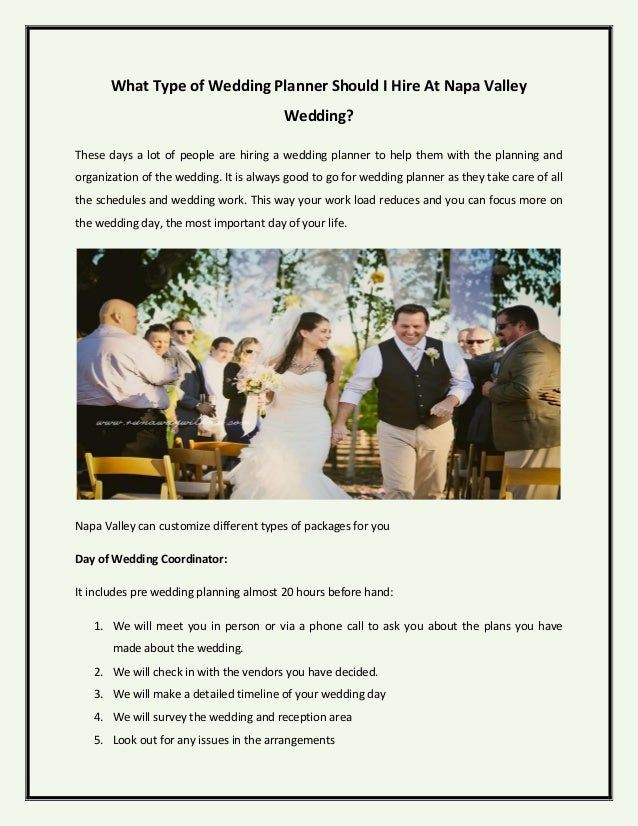 What type of wedding planner should i hire at napa valley wedding what type of wedding planner should i hire at napa valley wedding junglespirit Choice Image