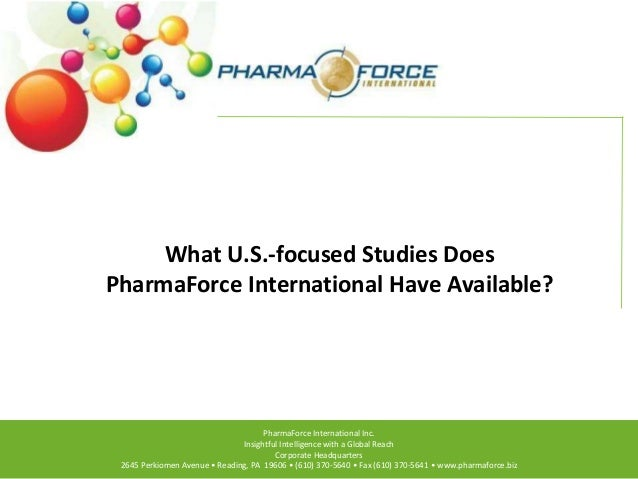 What U.S.-focused Studies Does PharmaForce International Have Available?  PharmaForce International Inc. Insightful Intell...