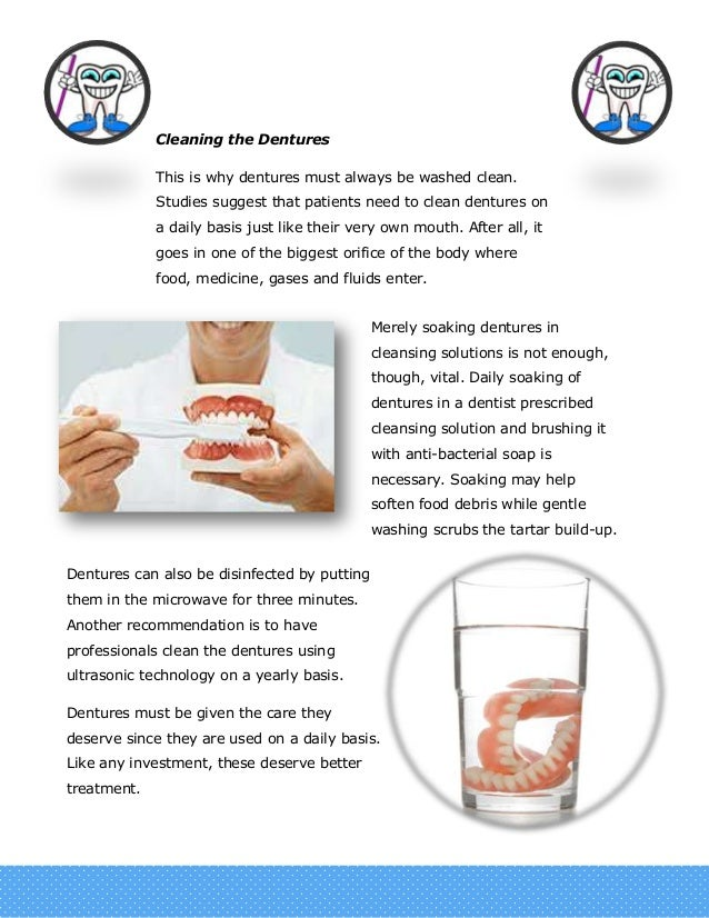 how to clean temp dentures