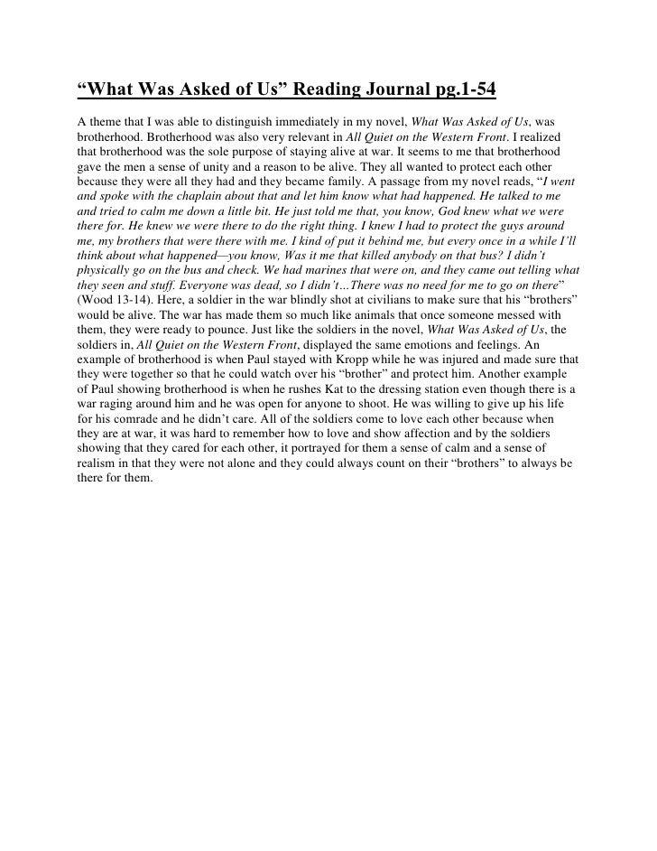 "HYPERLINK "" http://nicoletorralba.wordpress.com/2010/03/18/what-was-asked-of-us-reading-journal-pg-1-54-2/""  o "" Permanen..."