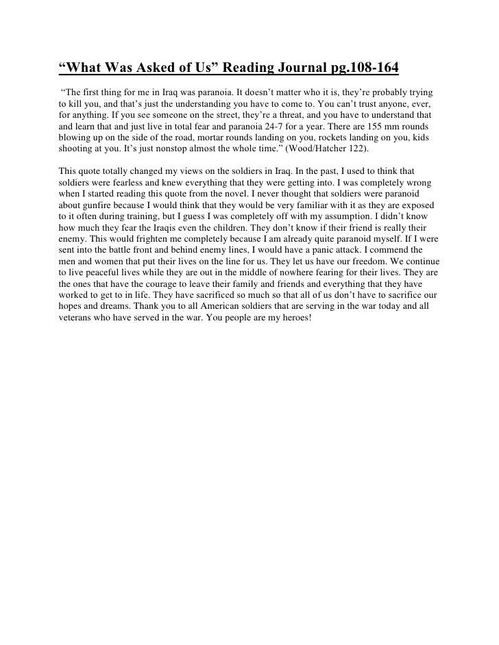 "HYPERLINK "" http://nicoletorralba.wordpress.com/2010/04/01/%e2%80%9cwhat-was-asked-of-us%e2%80%9d-reading-journal-pg-108-..."
