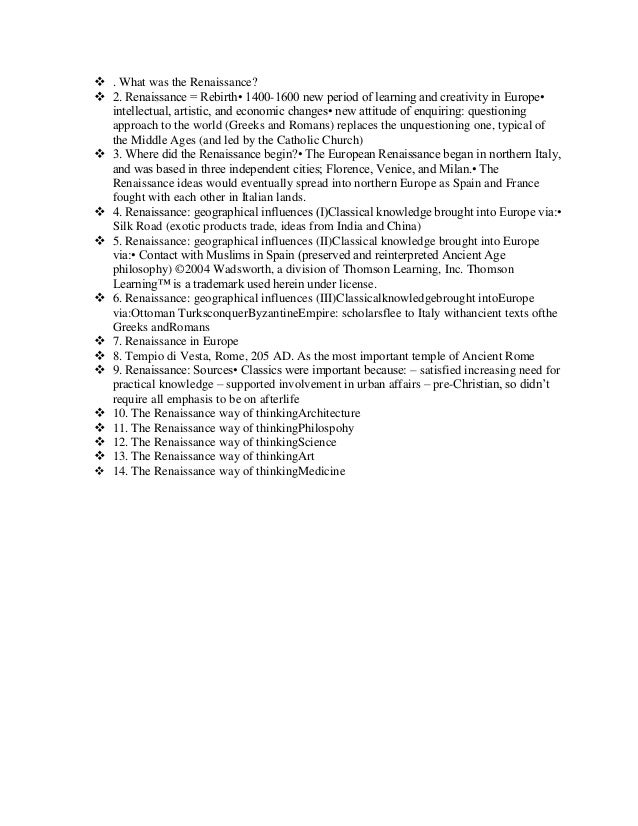 what was the renaissance rh slideshare net guided reading strategies 15.1 the italian renaissance answers guided reading activity the renaissance in europe answers