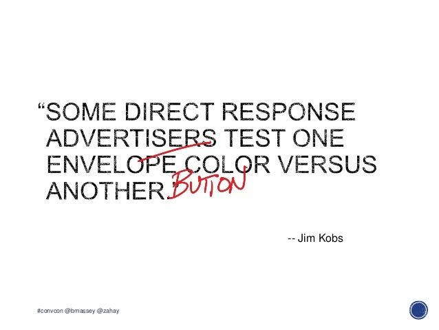 #convcon @bmassey @zahay-- Jim Kobs