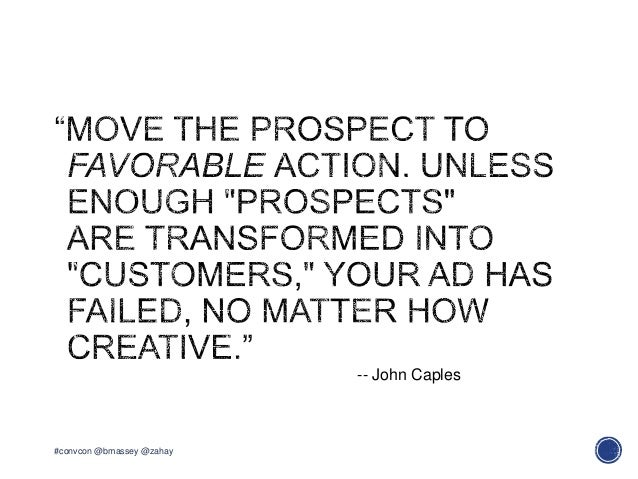 #convcon @bmassey @zahay-- John Caples