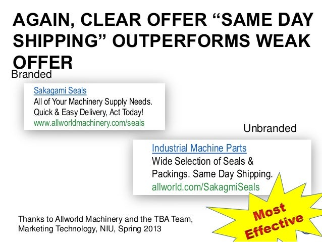 """BrandedUnbrandedAGAIN, CLEAR OFFER """"SAME DAYSHIPPING"""" OUTPERFORMS WEAKOFFERThanks to Allworld Machinery and the TBA Team,M..."""