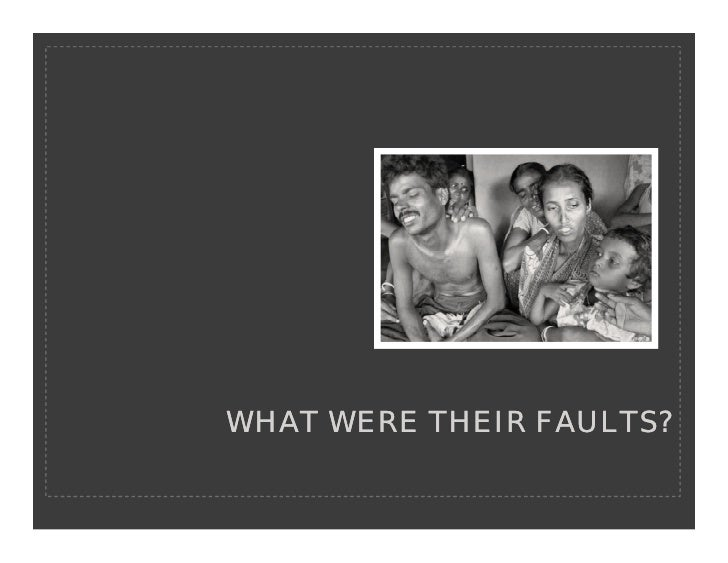 WHAT WERE THEIR FAULTS?