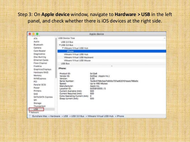 What will you do when the Mac OS in VMware doesn't recognise the iOS …