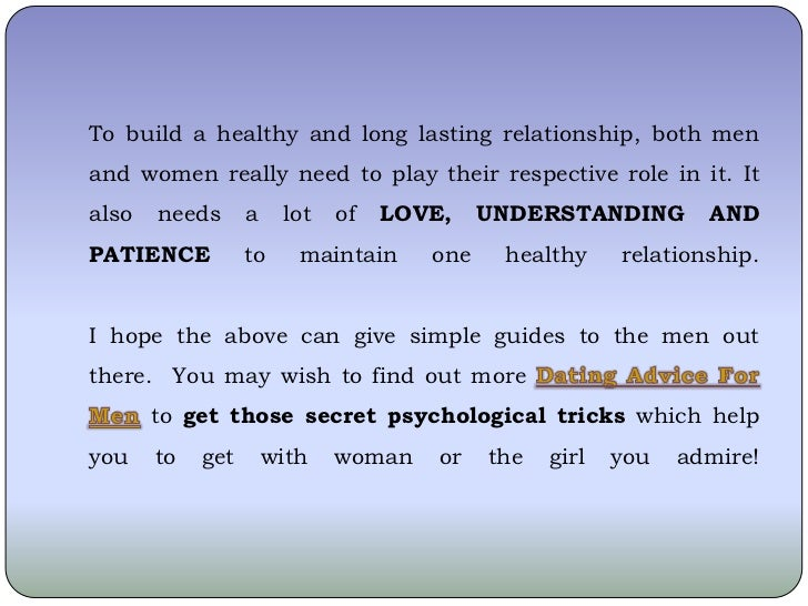 What Do Men Requirement From Women In A Relationship