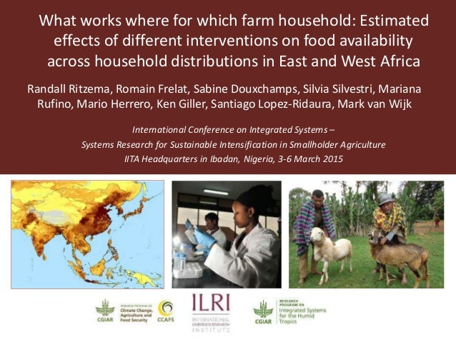 International Conference on Integrated Systems – Systems Research for Sustainable Intensification in Smallholder Agricultu...