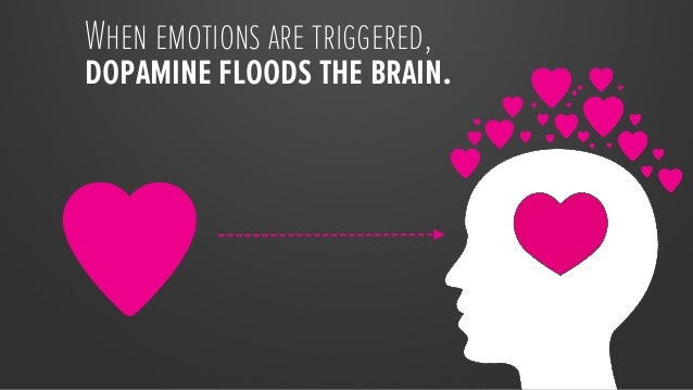 When emotions are triggered, dopamine floods the brain.