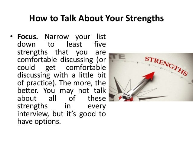 20. How To Talk About Your Strengths ...