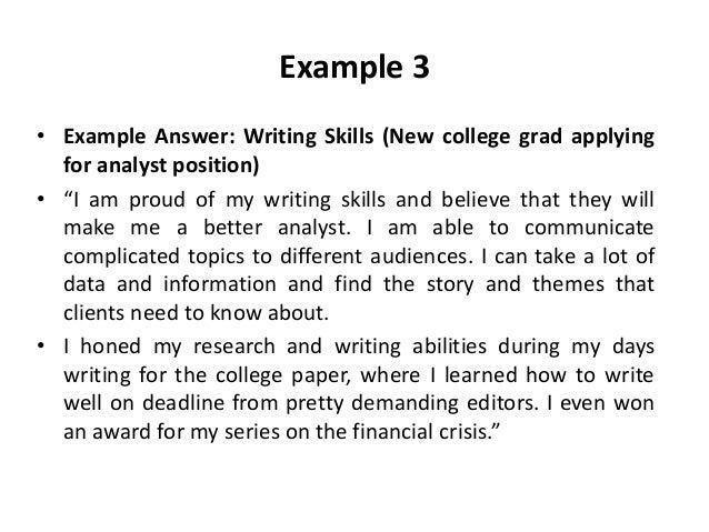 My strengths as a writer essay list