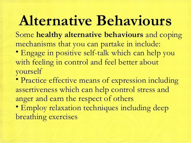 what you can do to help control your anger7 alternative behaviourssome healthy alternative behaviours and copingmechanisms that you can