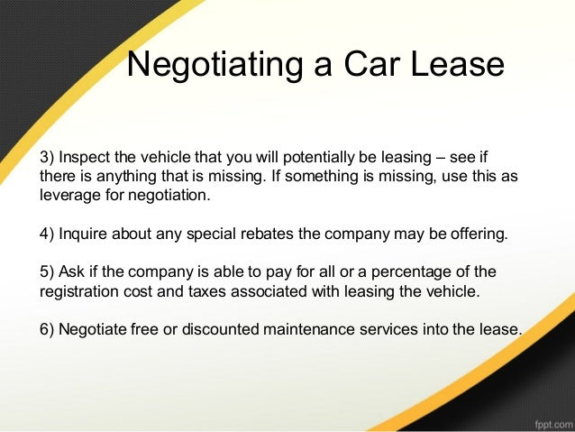 What To Ask When Negotiating A Car Lease