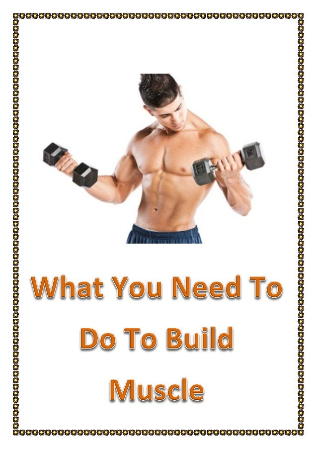 What you need to do to build muscle