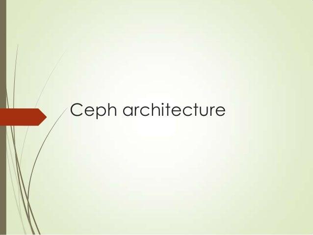 Ceph at a glance