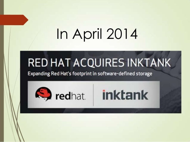 Yesterday Red Hat acquires me I joined Red Hat as an architect of storage systems This is just a coincidence. Red Hat acqu...
