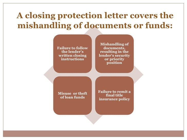 10 a closing protection letter