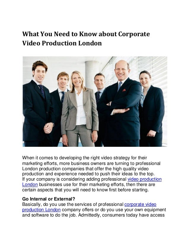 What you need to know about corporate video production