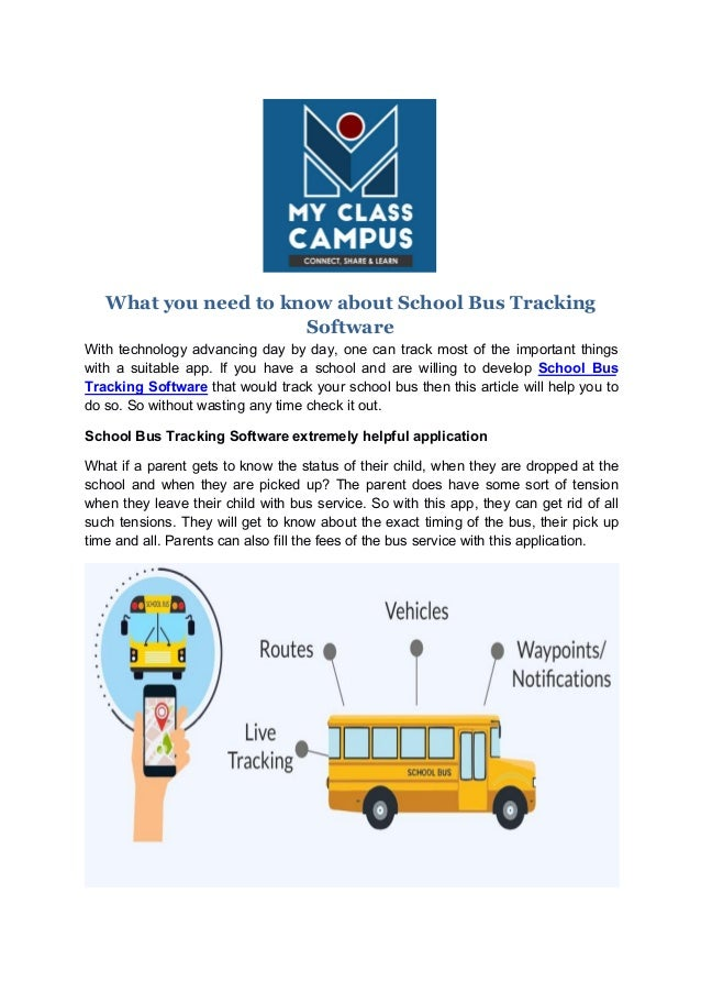 What you need to know about school bus tracking software