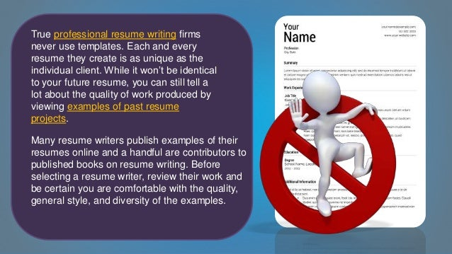 6 true professional resume writing