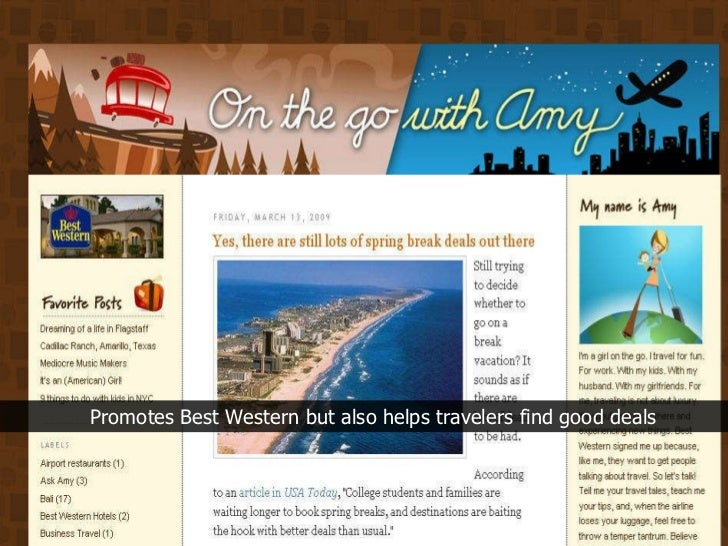 Promotes Best Western but also helps travelers find good deals