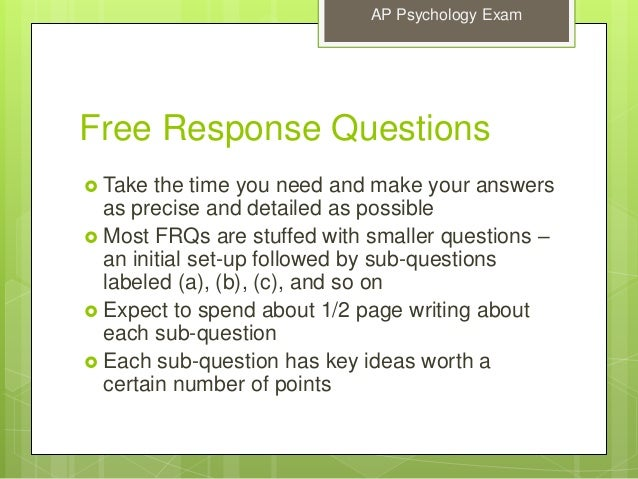 2004 ap psychology free response answer