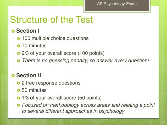 ap psych exam essay questions Ap psychology free response questions below is a list of all of the free response questions on the may ap psychology exam in your essay.