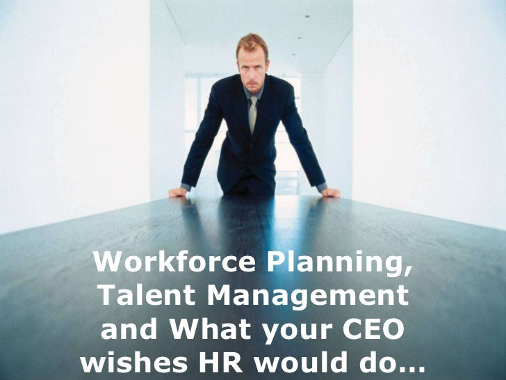 Workforce Planning, Talent Management and What your CEOwishes HR would do…