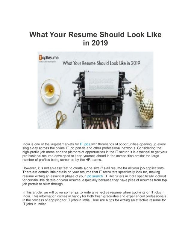 What your resume should look like in 2019.