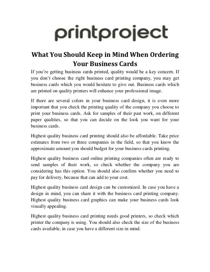 What you should keep in mind when ordering your business cards what you should keep in mind when ordering your business cardsbr if colourmoves