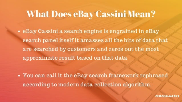 What You Should Know About Ebay Search Engine Cassini