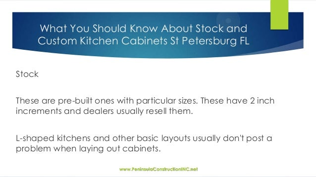 What You Should Know About Stock And Custom Kitchen Cabinets St Peter