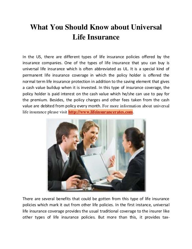 What You Should Know about Universal Life Insurance