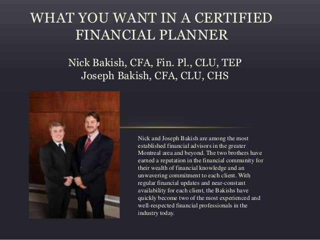 Financial planner montreal