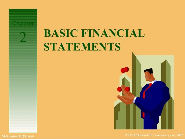 © The McGraw-Hill Companies, Inc., 2002McGraw-Hill/Irwin BASIC FINANCIAL STATEMENTS Chapter 2