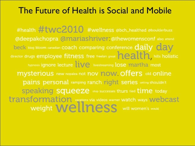 The Future of Health is Social and Mobile
