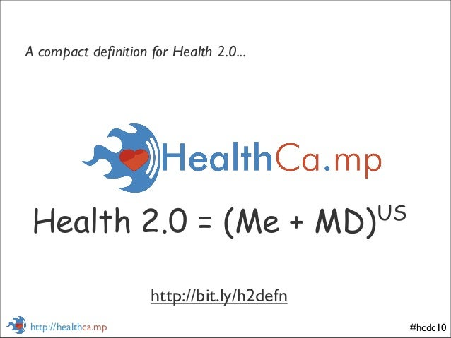 #hcdc10http://healthca.mp Health 2.0 = (Me + MD)US A compact definition for Health 2.0... http://bit.ly/h2defn