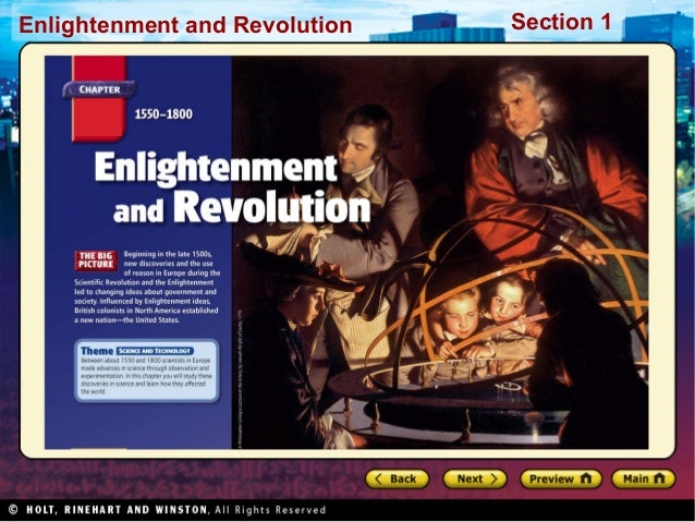 Section 1Enlightenment and Revolution