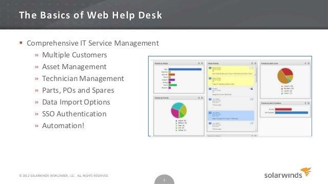 Customer Training Web Help Desk Part 1