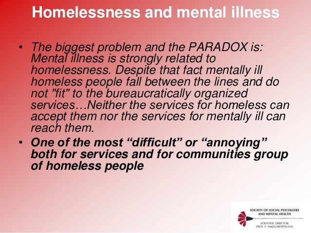 causes and effects of homelessness Learn about the effects of youth poverty on academic achievement, psychosocial outcomes and physical health the major causes of homelessness for unaccompanied youth are mental illness, substance abuse, and lack of affordable housing.