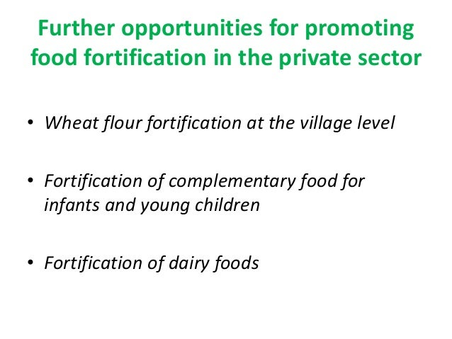 High Level Iron Fortification In Foods