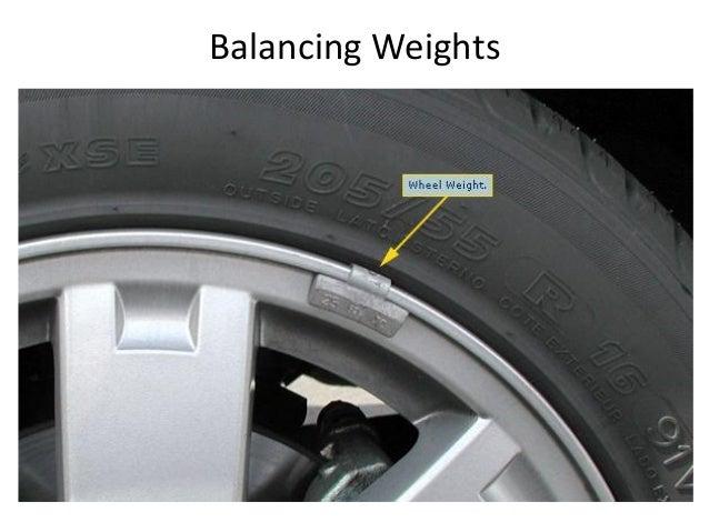 Wheel balancing for cars
