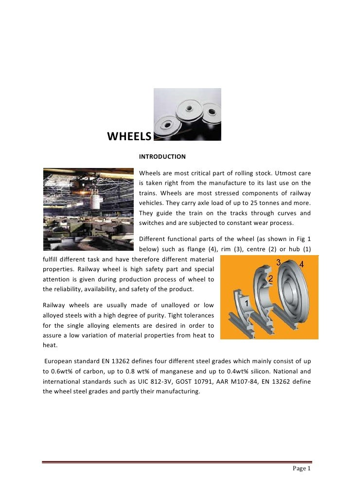 WHEELS                                   INTRODUCTION                                    Wheels are most critical part of ...