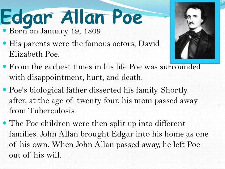 edgar allan poe research paper conclusion Edgar allan poe is regarded as, among many things, a master of dark fiction his poems and stories chill the blood, even today this short essay written on the life of the famous american poet offers great insight into his life and passions edgar allan poe's strong optimism.