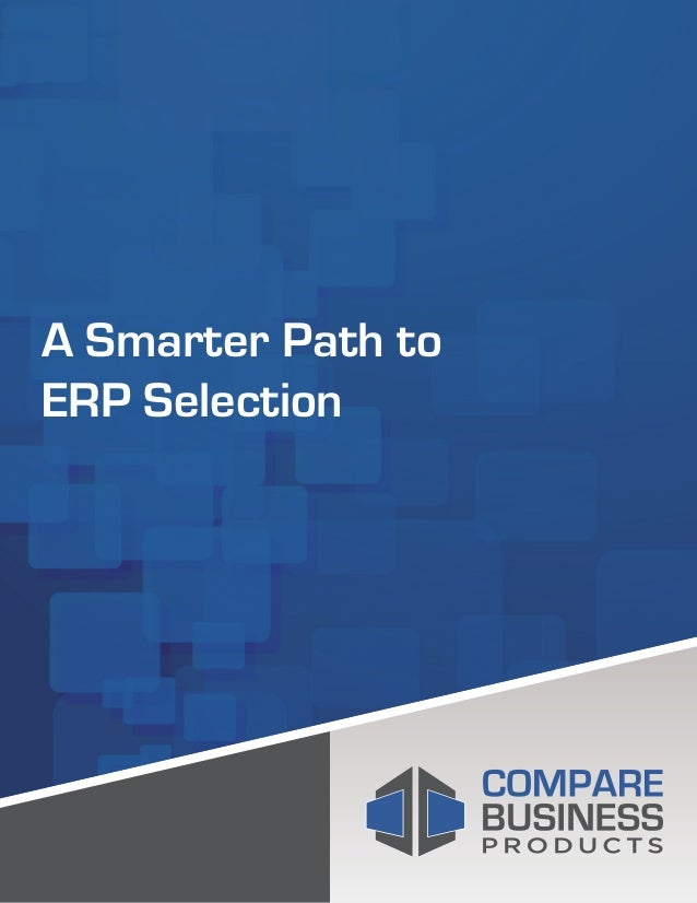 A Smarter Path to ERP Selection