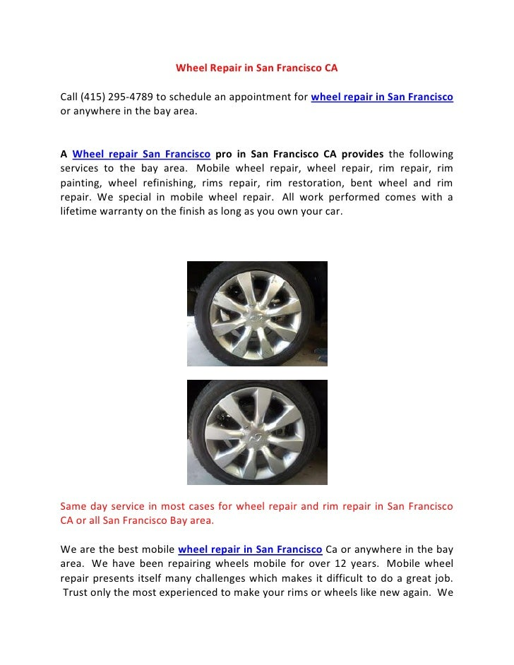 Wheel Repair In San Francisco Ca
