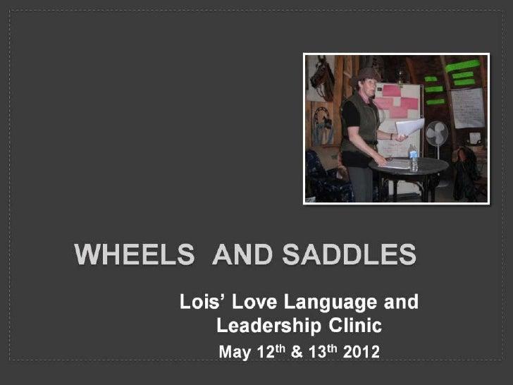 Wheels  and Saddles may 2012