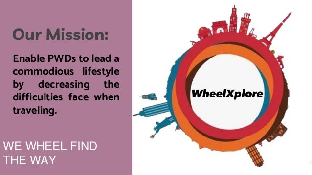 WE WHEEL FIND THE WAY Our Mission: Enable PWDs to lead a commodious lifestyle by decreasing the difficulties face when tra...